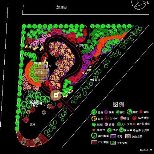 小游园设计平面图 小游园平面设计图 别墅小游园平面设计图 小游园