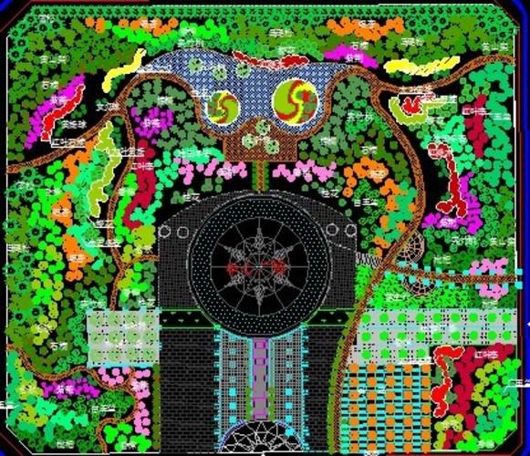社区广场游园及道路设计平面图