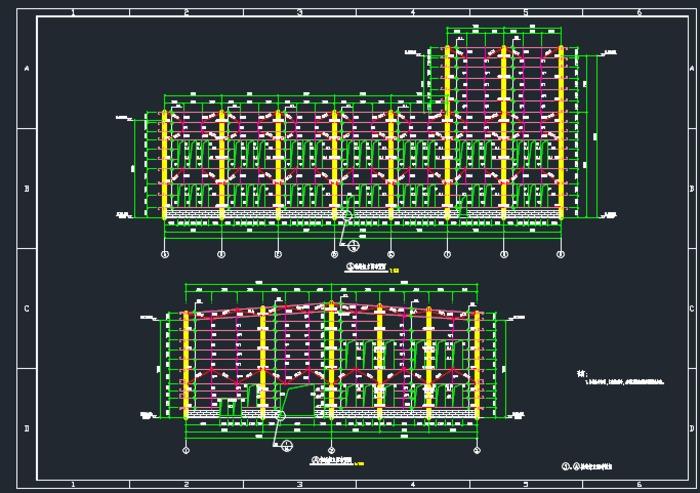 某异形厂方钢结构施工图