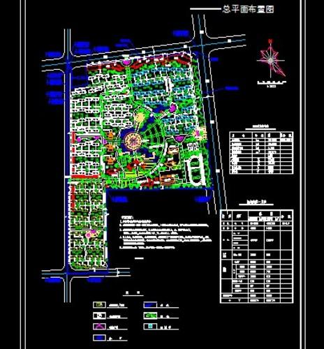 小区规划总平面布置图图片