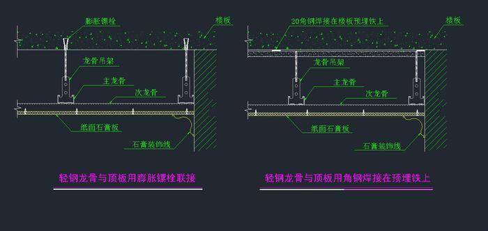 某建筑公司轻钢龙骨节点图学习资料_cad图纸下载-土木