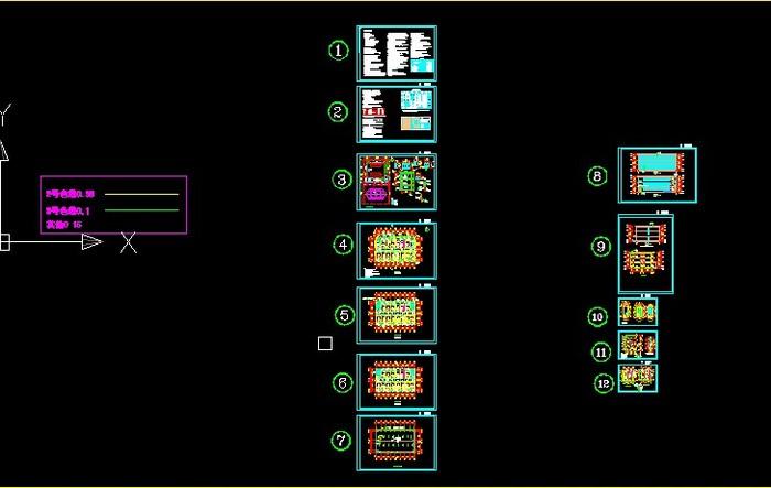 层框架宿舍楼建筑施工图