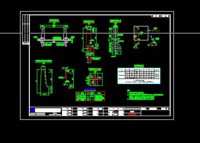 ss防撞护栏设计图