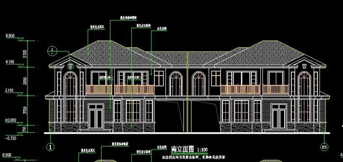 二层别墅施工图 二层钢结构别墅施工图