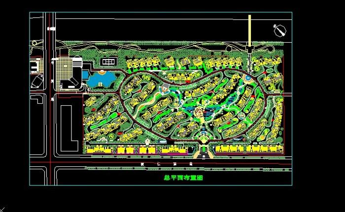 小区景观设计 小区景观设计平面 小区水系景观设计 小区景观设计cad