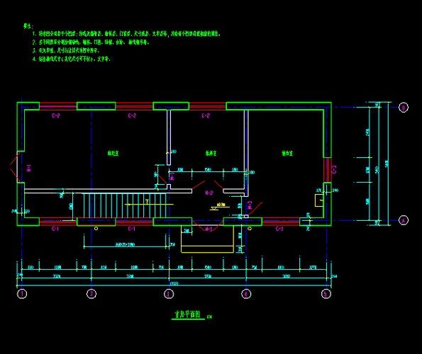 某地水泵房平面图