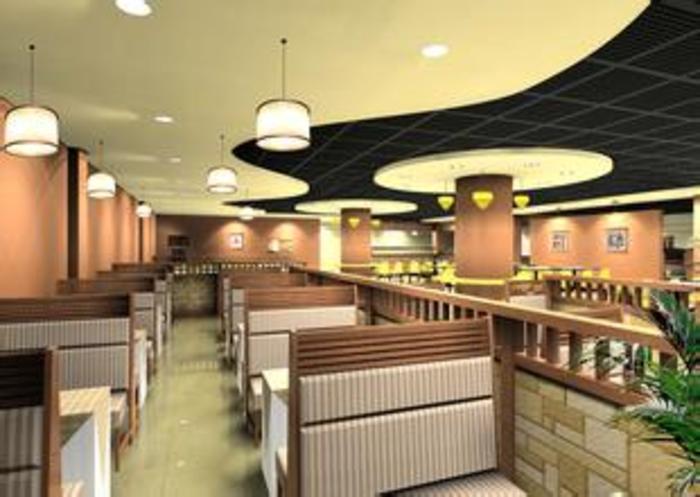 西餐厅平面图 西餐厅设计平面图