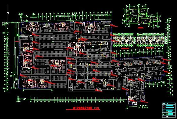 地下车库监控平面图