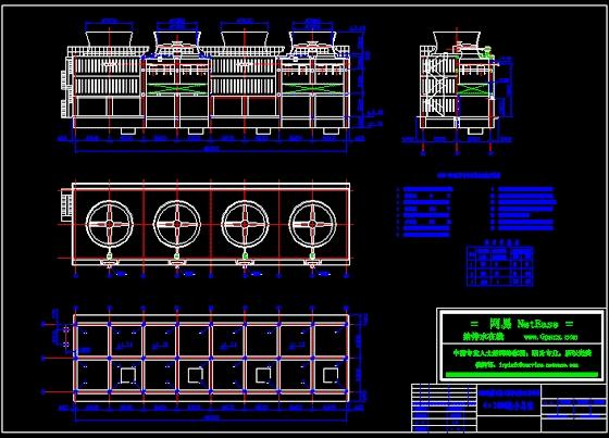 图纸 给排水图纸 大样,图块,图例 冷却塔 4×2000吨冷却塔图