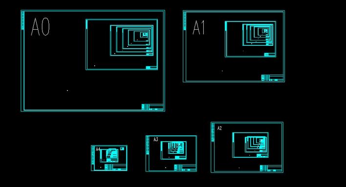 cad各种文件的图框cad模板中大小图片