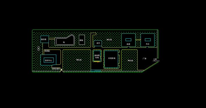 饲料厂平面设计图_食品工厂厂区平面图_平面设计图