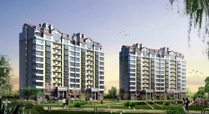 住宅小高层方案全图,cad,效果图 很不错 高清图片