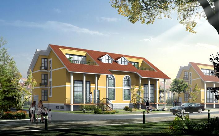 给排水) 某三层框架结构别墅施工图纸(含建筑,结构,给排水,电气) 欧式