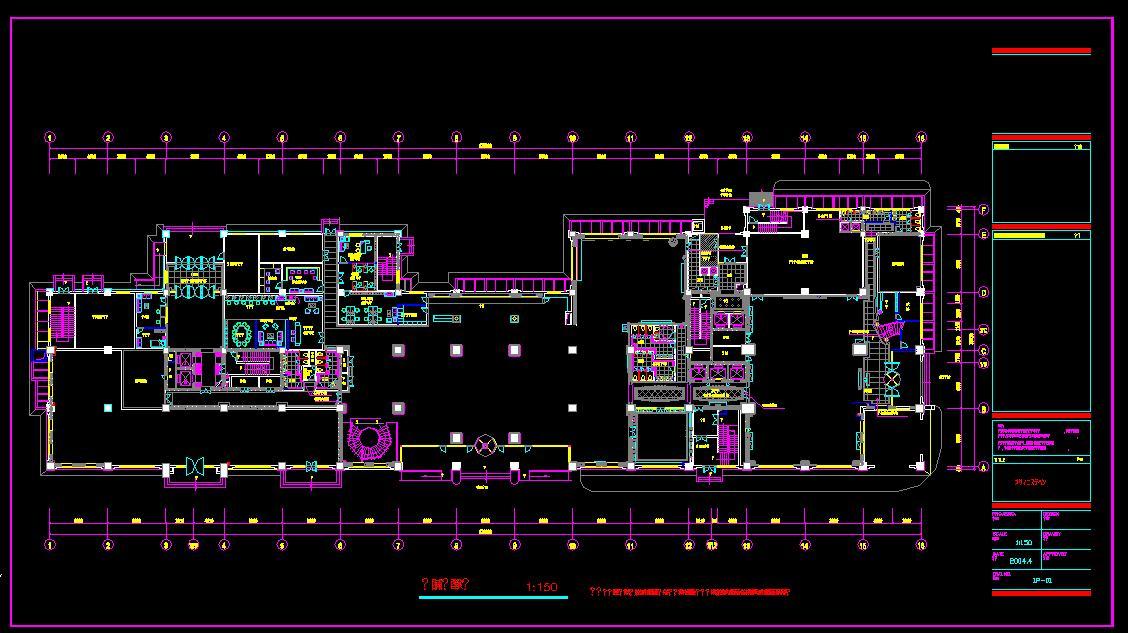 酒店设计平面图_cad图纸下载-土木在线