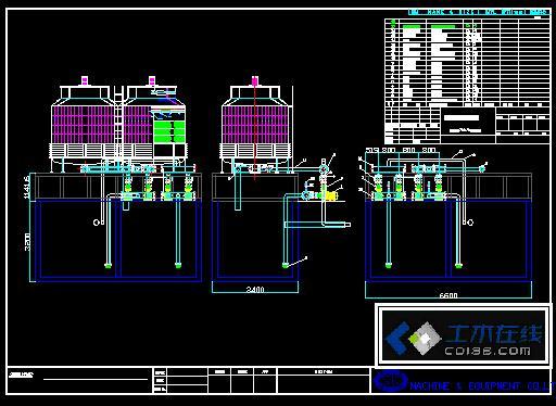 冷却塔设计图图片