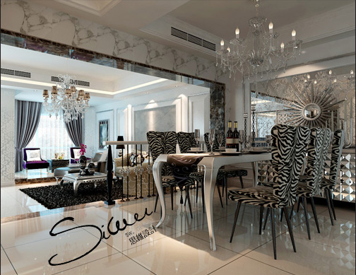 欧式客厅设计灰常豪华