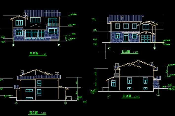 图纸 建筑图纸 别墅图纸 别墅设计图 经典别墅施工图  上传时间:2010