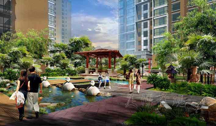 东南亚景观设计效果