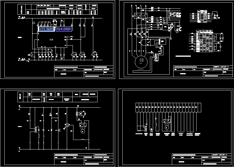 自动化电气原理图 柴油发电机原理图