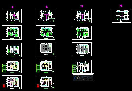 农村小别墅建筑设计施工图_co土木在线图纸下载