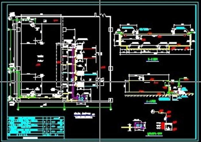 某地下200方混凝土框架消防水池结构施工图 车间(含地下消防水池和