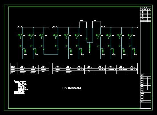 系统图 脱硫10kv高压一次接线系统图及小母线图 某度假中心10kv变配电