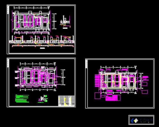 钢架结构车间轻钢结构车间会所平面布置建筑施工平面