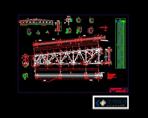 本图纸为钢结构课程设计钢屋架布置图,十分详细有用.