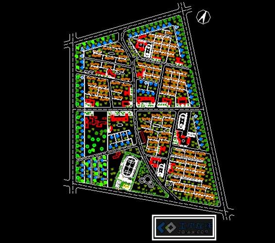 居住区规划与设计 居住区规划 居住区规划设计图 居住区规划快题设计