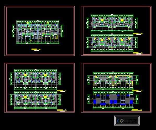 花园洋房户型平面图
