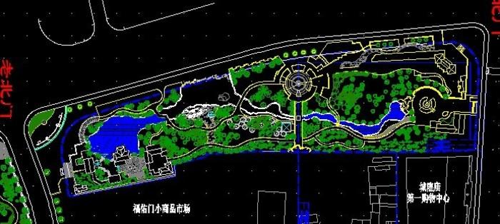 公园设计图纸 公园大门设计图纸 公园茶室设计图纸 经典四合院设计