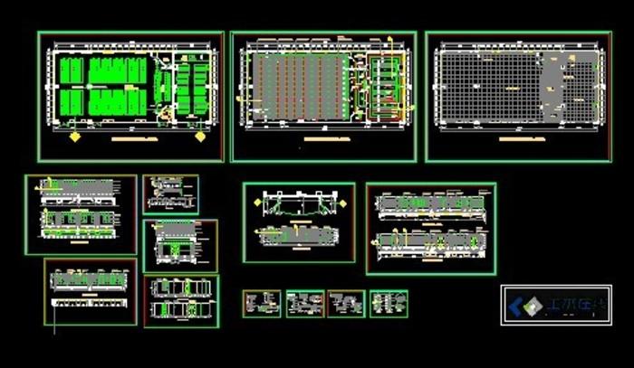 会议室规划设计图,平面图,立面图,详图,剖面图 某地区人民医院会议室
