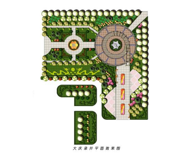 园林设计假山平面图 园林设计平面图