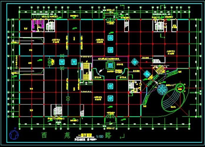 某商场建筑平面图