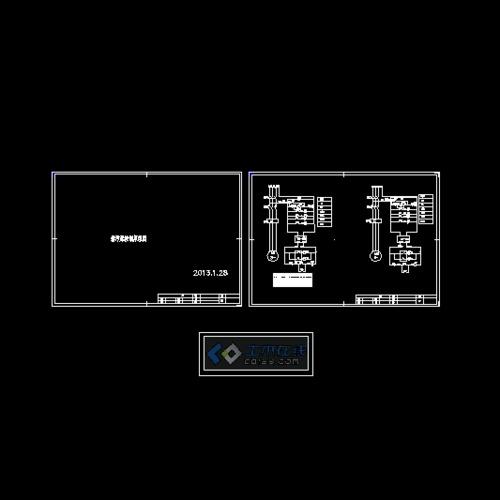 变电站电气图 箱式变电站电气图 变电站系统图 某电站电气原理图 变图片