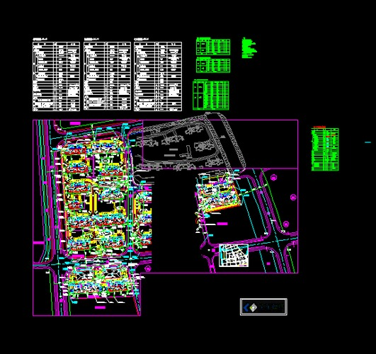 某工程人防地下车库总平面图