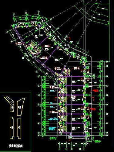著名地产公司欧式商业街建筑施工图图片