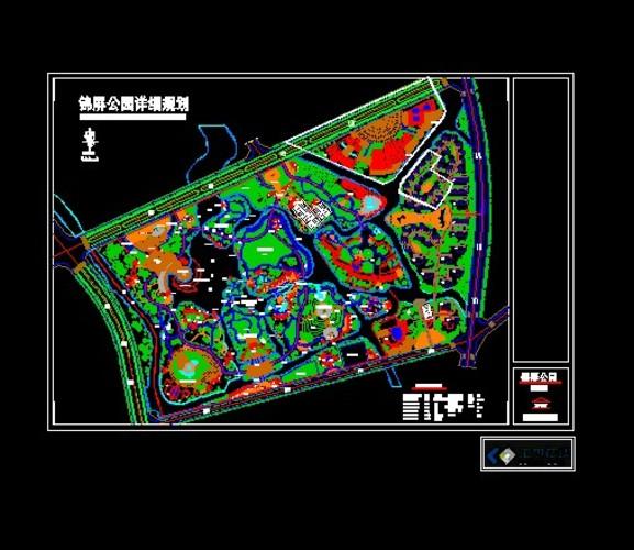 某公园设计平面图