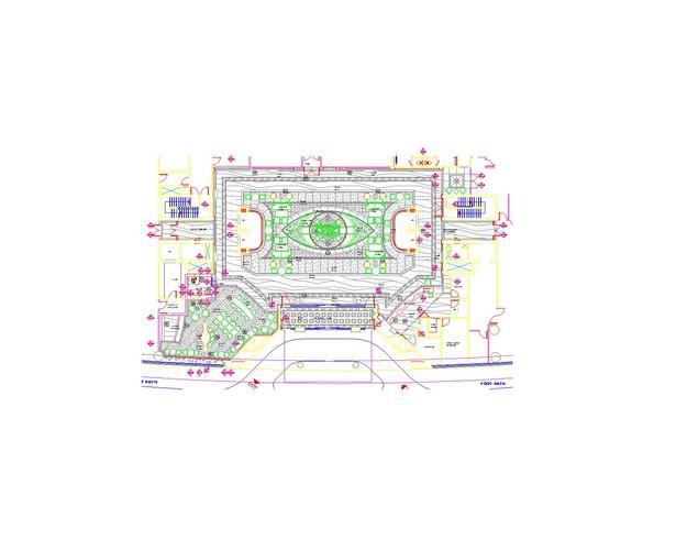 迪拜土木土木平面图_CO酒店v土木(原网易大厅怎么用cad画图坐标图片