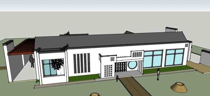 效果图(平面效果图)  茶室的su建筑图