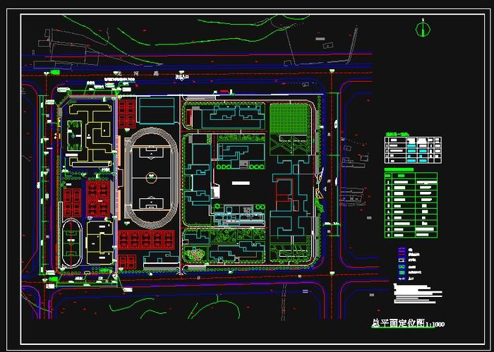 总平面规划图 很不错的学校规划与学校实验楼平面