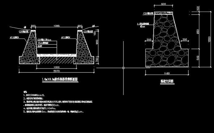 防洪渠挡土墙做法_CO土木在线图纸下载-砖砌排水渠施工方案 砖砌排