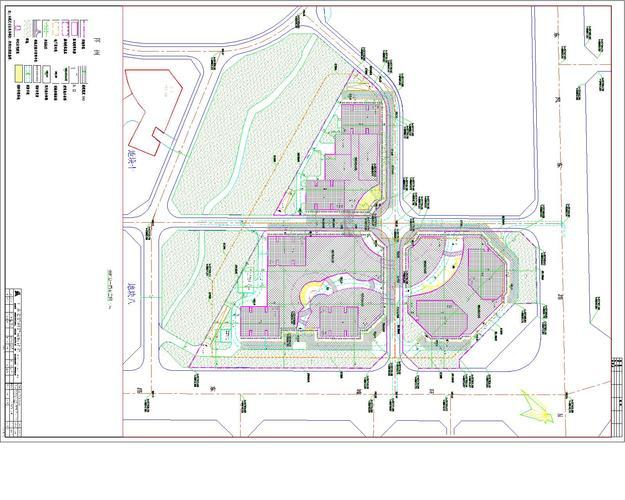 某小区32层高层建筑给排水平面图消防管道布置图系统图 某小区生活冷