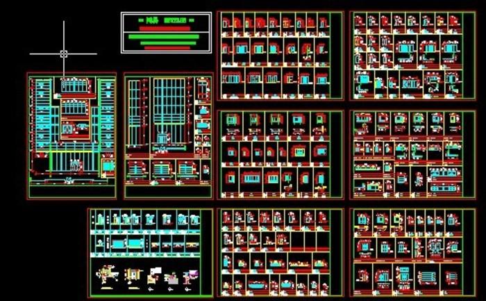 CAD建筑门窗图纸大全_CO土木v门窗河马下载图纸玩偶图集图片