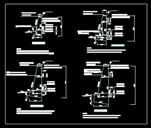俯斜式挡土墙施工图(已施工)图片
