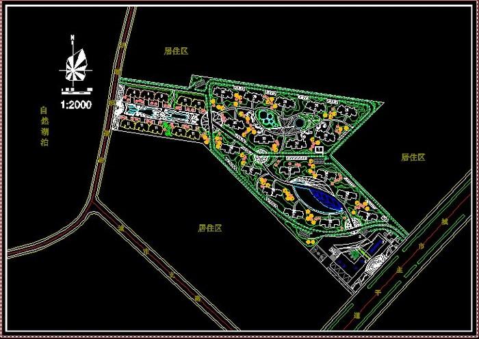 公顷居住区规划设计