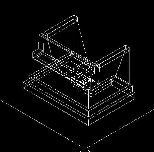 重力式u形桥台3d图