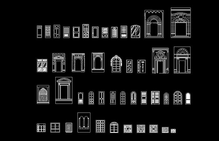 CAD建筑图库门窗土木_CO命令v图库(原网易土cad大全units快捷键的图片