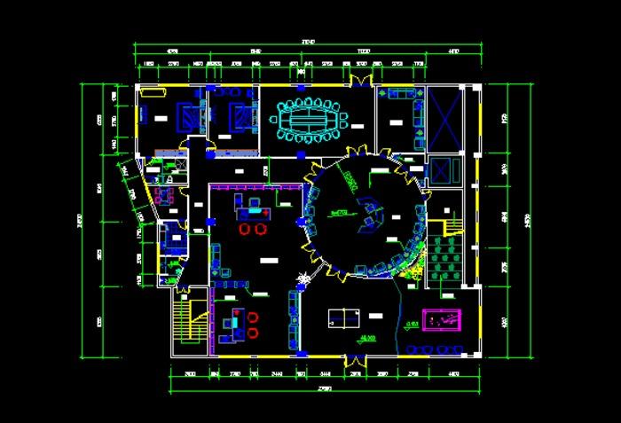 总经理办公室施工图 总经理办公室效果图 总经理办公室装修设计图 总