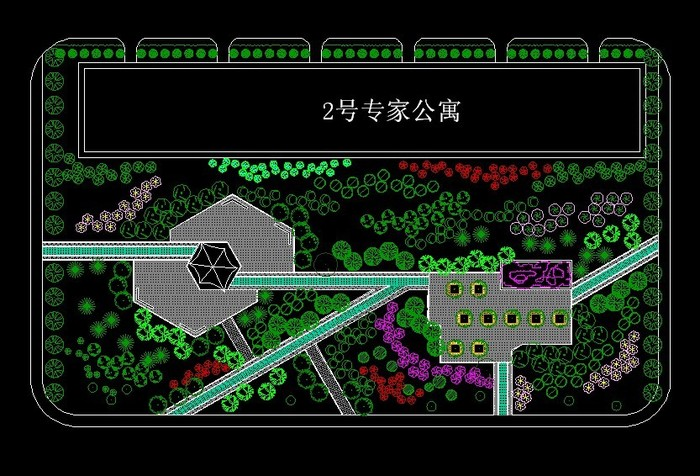 厂区绿化平面图(含绿化总平图一张)